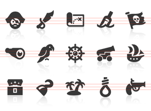 0143 Pirate Icons Image
