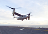 Osprey Hovers Over The Flight Deck, As Tests Resumed On The Aircraft This Week Image