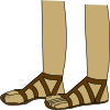 Feet In Sandals Clip Art