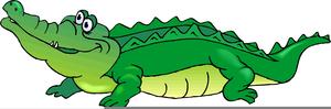 Cute alligator clip art