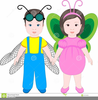 Halloween Costume Party Clipart Image