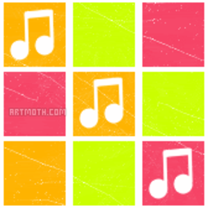 Bg Music Notes In Squares Image