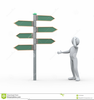 Blank Sign Post Clipart Image