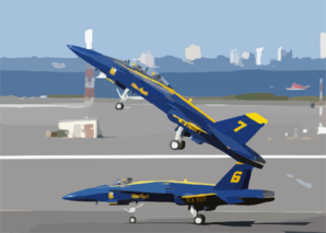 Blue Angels Six And Seven Take Flight Clip Art
