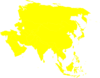 Asian Continent Yellow Clip Art
