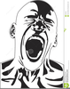 Person Screaming Clipart Image