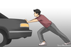 Clipart Pushing A Car Image
