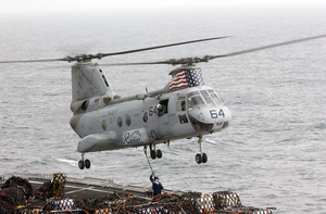 A Ch-46  Sea Knight  Helicopter Image