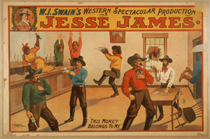 W.i. Swain S Western Spectacular Production, Jesse James Image