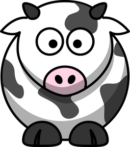 Free Cartoon Cow Clip Art Image