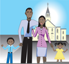 Church Family Friends Day Clipart Image