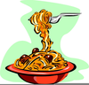 Spaghetti And Meatballs Clipart Image