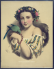 Woman With Dove Wearing Flowers Image