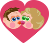 Kissing Heart Couple Image