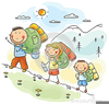 Free Clipart Of Children Hiking Image