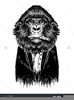 Wise Gorilla Clipart Image