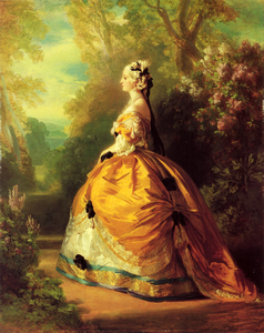 The Empress Eugenie A La Marie Antoinette Image