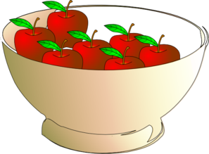 Bowl 7 Apples Clip Art