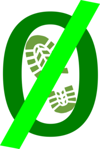 Zero Foot Print Green Clip Art