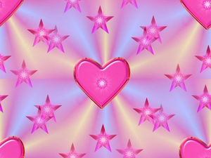 Simple Love Pink Stars Image