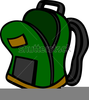 Open Backpack Clipart Image