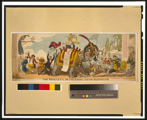 The Rehearsal Or The Baron And The Elephant  / G. Cruikshank, Fect. Image