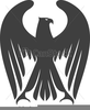 Eagle Black And White Clipart Image