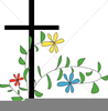 Cross And Rosary Clipart Image