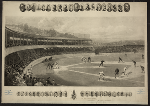 A Baseball Match  / Hy. Sandham, Boston 1894. Image