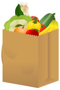 bags of groceries clipart free images at clker com vector clip rh clker com groceries clipart free Food Clip Art