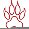 Red Tiger Paw Clipart Image