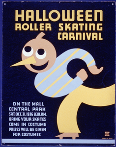 Halloween Roller Skating Carnival On The Mall, Central Park : Bring Your Skates : Come In Costume : Prizes Will Be Given For Costumes. Image
