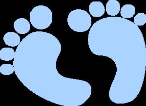 Blue Baby Feet Clip Art at Clker.com - vector clip art ...