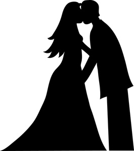 Bride And Groom Kissing Silhouette Smu Image