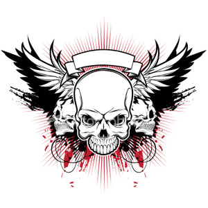 Ist Three Skull Wings Image