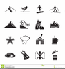 Mountain Black And White Clipart Image