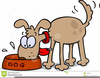 Clipart Of Dog Chewing Image