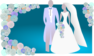 Kattekrab Bride And Groom Clip Art