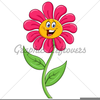 Green Cartoon Flower Image