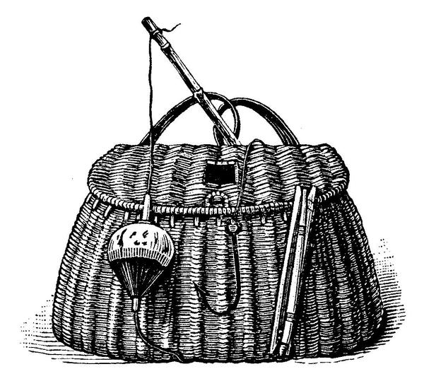 Old Fashioned Fishing Bag