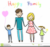 Family Silhouette Clipart Image