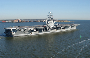 Uss George Washington (cvn 73) Sails By Fort Monroe Image