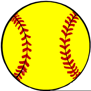 free yellow softball clipart free images at clker com vector rh clker com