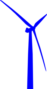 Wind Turbine Blue Clip Art