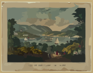 View On The Hudson - West Point Clip Art