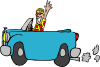 Man Driving Car Clip Art