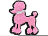 Free Pink Poodle Clipart Image
