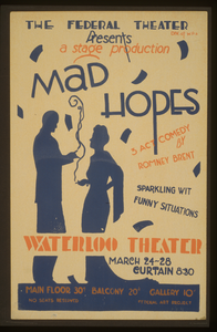 The Federal Theater Div. Of W.p.a. Presents A Stage Production  Mad Hopes  3 Act Comedy By Romney Brent. Image