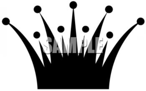 Simple Spiked Crown Clip Art Silhouette Clipart Image Image