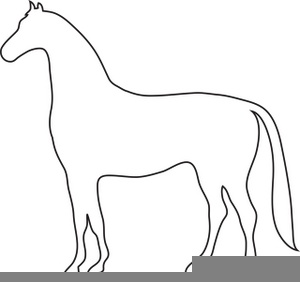 Horse Outline Clipart Image